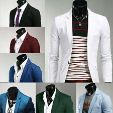 Fashion Mens Slim Fit Stylish Casual One Button Suit Coat Jacket Blazers