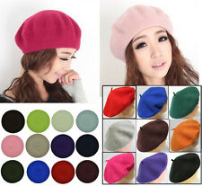 New Fashion Wool Warm Winter Hat Women Lady Girls Beret Beanie Hat Painter Cap