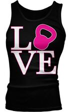 Love Kettlebell Lifting WOD Workout Strength Training Boy Beater Tank Top
