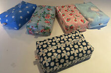 BABY WIPES COVER/CASES  IN PRETTY DESIGNER OIL CLOTHS ZIPPED & STANDARD OPENINGS