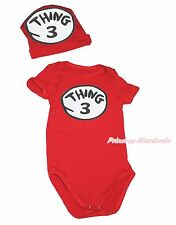 Newborn Baby Boy Girl Hot Red Things#3 Circle Jumpsuit Bodysuit Costume NB-12M