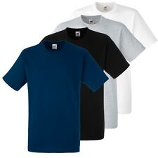 5 Pack Mens Cotton Fruit of the Loom Plain Blank Tee Shirt Tshirt T-Shirt