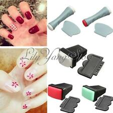 Rubber Nail Art Polish Stamp Single/Double Side Stamper Scraper Manicure Tool