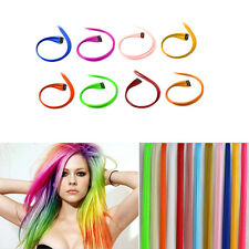 Clip In On Colorful Hair piece Synthetic Straight Long Hair Extensions Highlight