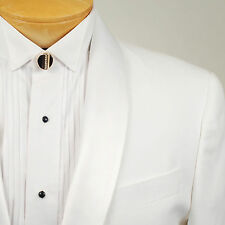 44R SAVILE ROW  1 Button Solid White Tuxedo Suit 44 Regular - M03