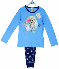 Girl's Disney FROZEN Elsa Queen of the North Mountain Pyjamas Blue 3-10 yrs NEW