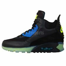 Nike Air Max 90 Sneakerboot Ice Black Blue Green 2014 Mens Winter Boots Shoes