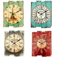 Vintage Rural Shabby Rustic Wall Clock Chic Home Office Bar Xmas Decoration