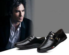 New Mens Genuine Leather Occupational Shoes Fashion Sneakers Business Footwear
