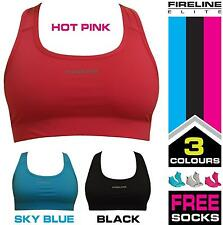 Ladies Sports Bra running gym clothing sports crop top + anklet socks