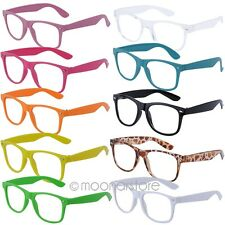 Fashion Retro Vintage Clear Lens Frame Wayfarer Trendy Cool Nerd Geek Glasses