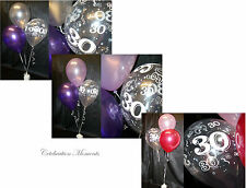 Happy 30th Birthday Party Helium Balloon Decoration DIY Clusters Kit - 20 tables