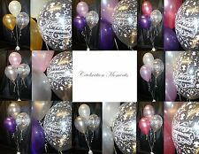 Engagement Flowers Helium Party Balloon DIY Decoration Clusters 3 Table Kit