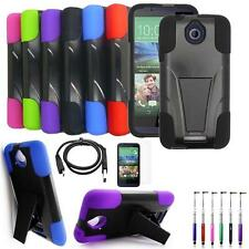 Phone Case For HTC Desire 512 510 Rugged Cover Stand USB Charger Film Stylus