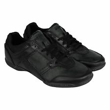 Diesel Mens Excurse Black  Leather Lace Up Sneakers Shoes