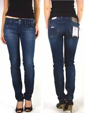 Fornarina Tube Jeans Denim New Kitty D521nd Dark Blue -New- W25 W26 W27