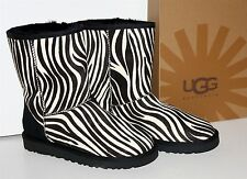 UGG ® Women's Classic Short Exotic ZEBRA BOOTS #1002790 Haircalf NEW Sz 7 or 10