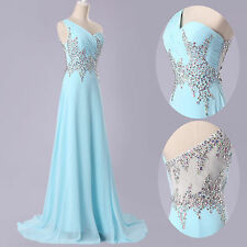 CLEARANCE~Beads Formal Bridal Bridesmaid Gown Evening Long Party Cocktail Dress