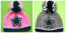 All sizes! DALLAS COWBOYS crocheted knit hat baby toddler child adult beanie