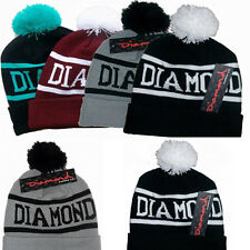 Hip-Hop Diamond Beanies Winter Cotton 1 size fits All Knit Cap Cool Hat