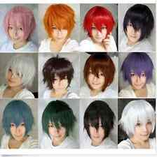 12 Colors Fashion Short Wig Cosplay Party Costume Straight Wigs Full Wig +Cap