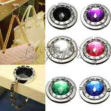 6 StylesSparkling Crystal Diamonds Purse Hanger Hand Bag Purse Table Hook Holder