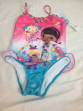 Doc Mcstuffins Girls Toddler Swimwear Bathing Suit One Piece Swimsuit size S, L