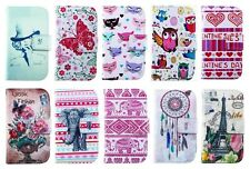 Multi Pattern PU Leather Wallet Stand Flip Pouch Case Cover f Vary Mobile Phone
