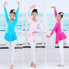 Girls Gymnastics Tights Dance Dress Kids SZ 3-14Y Ballet Tutu Leotard Soft Skirt