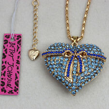 Betsey Johnson New Fashion Bow Love Pendant  Necklace Free shipping
