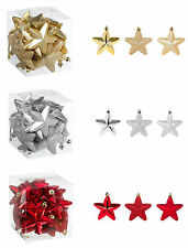 NEW Christmas Stars x 20 Decorations Tree Baubles Ornaments