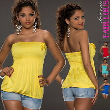 New sexy Women's Tube Top Size 8 10 Hot European Trendy Shirts Blouses Clothing
