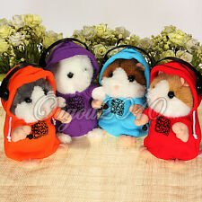 DJ Rap Mimicry Pet Talking Electronic Hamster Plush Toy Birthday Gift 3 color