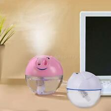 New Hot USB LCD Pig Ultrasonic Aroma Essential Oil Diffuser Air Humidifier K0TG