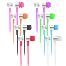 3.5mm In-Ear Earbuds Mic Stereo Earphone Headset Headphone For iPhone iPod MP3