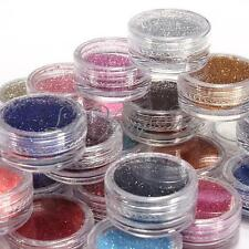 28 Colors Shiny Glitter Sparkly Powder Nail Art Design Tips Dust Decorations DIY