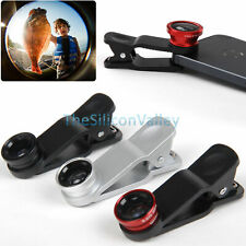 Universal Clip 3in1 Fish eye Macro Wide Angle Lens for iPhone 6 Plus 5S Android