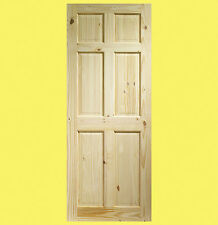 Internal Knotty Pine Colonial 6 Panel Door. Various Sizes. Brand New.
