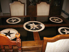 WESTERN TABLE TOP  DRESSER DISPLAY COWHIDE TEXAS STAR 12x12 DECOR  WESTERN
