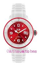 Genuine Ice-Watch Silicon Strap New Model Ice-White White/Red Small/Unisex/Big
