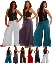 @I636 PANT GAUCHOS YOGA BELL BOTTOM WIDE WAIST SPANDEX FASHION MADE TO ORDER