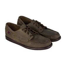 Sebago Mens Campsides Brown Leather Casual Dress Slip On Loafers Shoes