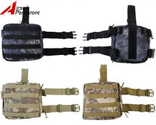 Tactical Airsoft Military Molle Camo Magazine Drop Leg Panel Utility Pouch Bag