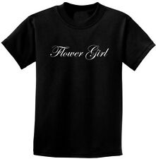 """Wedding Party """"Flower Girl"""" T-Shirt 2T -18-20 Youth Great Thank You Gift..."""
