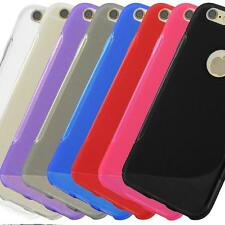 Slim S-Line S-Curve TPU Gel Case Cover Hard Silicone Skin with Screen Protector
