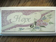 Wooden Wall Plaque: Faith, Hope, or Love