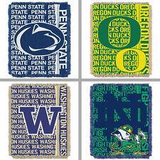 "Choose NCAA N-Z Team 48 x 60"" Double Play Triple Woven Jacquard Throw Blanket"