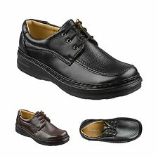 Mens Leather Lace Up Shoes Size 6 to 11 UK Black or Brown - OFFICE & CASUAL  006