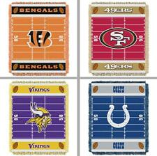 Choose Your NFL Team Triple Woven Jacquard Football Field Baby Throw Blanket