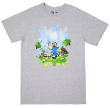 OFFICIAL Minecraft - Adventure Grey ADULTS T-shirt NEW LICENSED Merch ALL SIZES